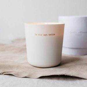 SOPHIE MASSON PORCELAINE - cèdre blanc - Vela Perfumada