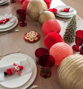 SOUS LE LAMPION - boule alvéolée - Decoración De Árbol De Navidad