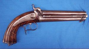 Cedric Rolly Armes Anciennes - pistolet d officier d etat major 1855 - Pistola Y Revólver