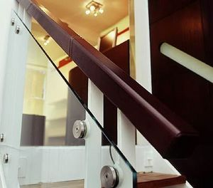 Anthony Vrahimis Architectural Leatherwork - hand rails - Pasamanos