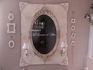 Le Grenier d'Alice - miroir07 - Espejo Con Luz