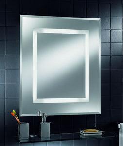 Oberoi Brothers Lighting - energy saving bathroom mirror with shaver socket - Espejo Con Luz