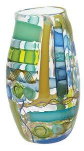 Tracy Glover Objects & Lighting - waterman vase in blue greens - Jarrón