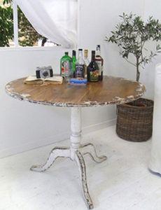 BLEU PROVENCE - vintage white - Mesa De Comedor Redonda