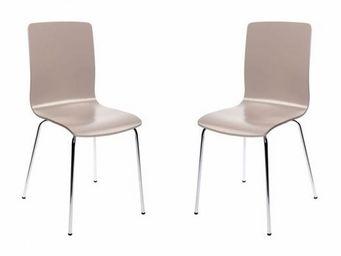 Miliboo - lot de 2 chaises taupe nelly - Silla