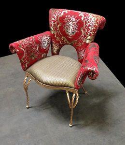 Mathi Design - fauteuil baroque enfer rouge - Sillón