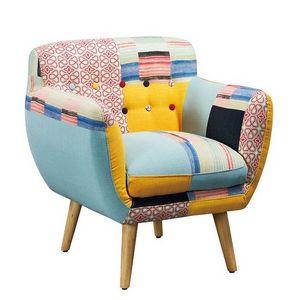 Mathi Design - fauteuil patchwork lulea - Sillón