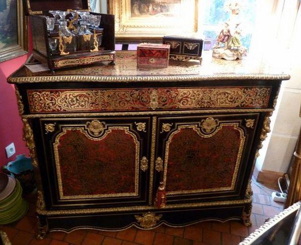 Art & Antiques - Cajonera baja-Art & Antiques-Commode/Pantalonnière/Secrétaire en marqueterie Boulle