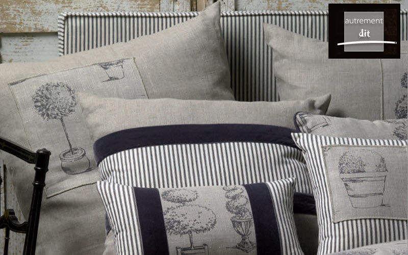 AUTREMENT DIT Fodera per cuscino Cuscini Guanciali Federe Biancheria  |