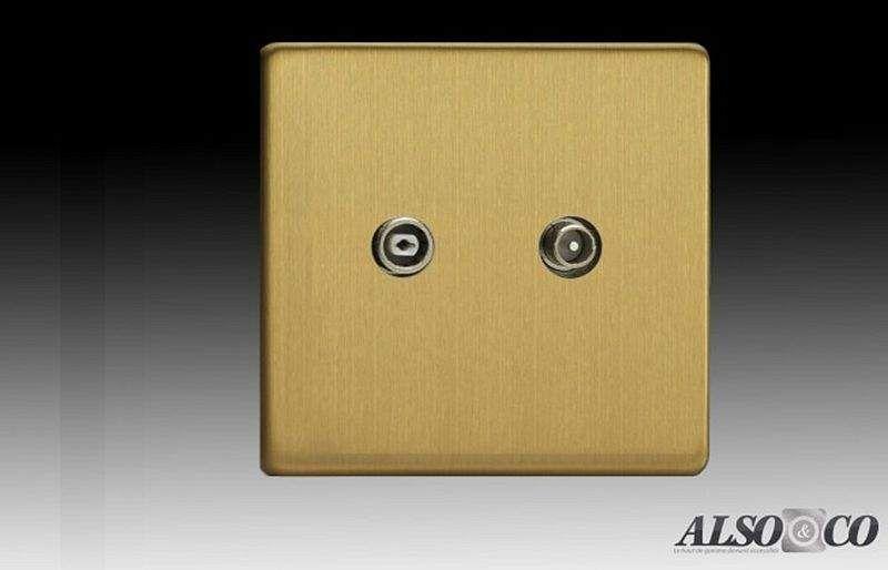 ALSO & CO Presa per televisori Elettricità Illuminazione Interno  |