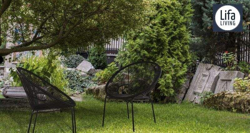 LIFA LIVING Poltrona da terrazzo Poltrone per esterni Giardino Arredo  |