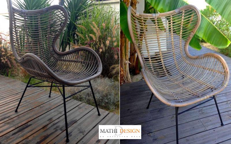 Mathi Design Poltrona da giardino Poltrone per esterni Giardino Arredo  |