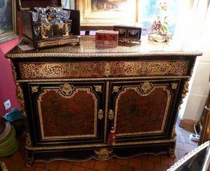 Art & Antiques - commode/pantalonnière/secrétaire en marqueterie boulle - Cassettiera Bassa