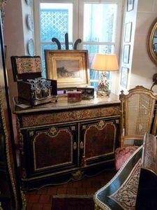 Art & Antiques - commode/pantalonnière/secrétaire en marqueterie bo - Cassettiera Bassa