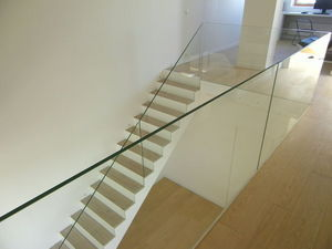 TRESCALINI - raily : garde-corps verre extra clair - Parapetto