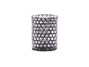 BLANC D'IVOIRE - wicker gm - Bicchiere Portacandela