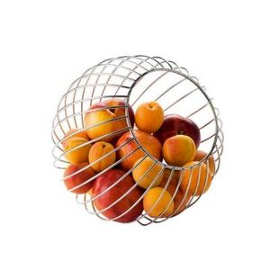 Delta - corbeille à fruits boule en métal à poser - Cestino Da Frutta