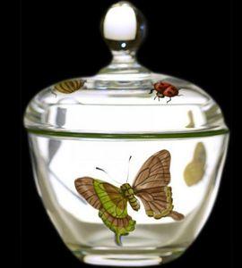 Au Bain Marie - confiturier cristal décor papillons - Vasetto Da Marmellata
