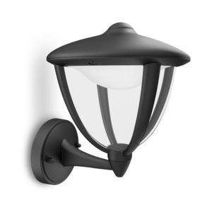 Philips - robin - applique extérieur montante led noir h24cm - Applique Per Esterno