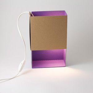 ADONDE - boite a lumiere - lampe violet | applique ¿adónde? - Lampada Da Tavolo