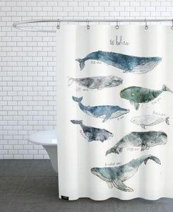 JUNIQUE - whales - Tenda Per Doccia