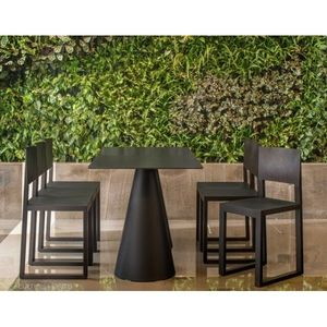 PEDRALI - table ikon noir pedrali - Set Tavolo E Sedie Da Giardino