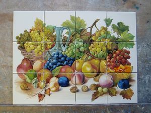 ART DECO CERAM - nature morte - Piastrella A Mosaico