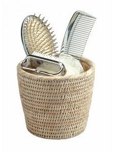 ROTIN ET OSIER - pot à brosses cheveux daivy - Barattolo Da Bagno