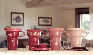 Ainsi de Suite - coffret de 4 tea sets camaieux rose - Tazza Da Tè