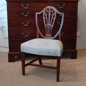 ANTHEMION - paire de chaise acajou - Sedia