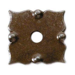 FERRURES ET PATINES - rosace de meuble en fer vieilli pour commode, tabl - Rosone Porta