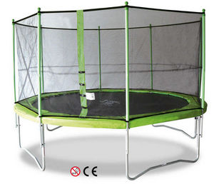 Kangui - trampoline jumpi 360 avec cage de protection - Trampolino Elastico