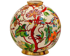 Emaux de Longwy 1798 - boule flo (aurore) - Sfera Decorativa