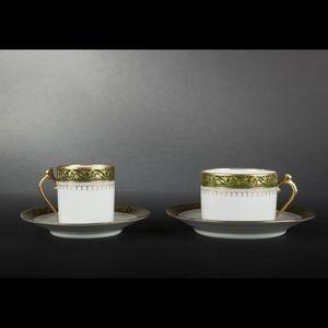 Expertissim - limoges. service à thé et à café en porcelaine. - Servizio Da Tè