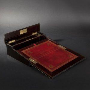 Expertissim - ecritoire rectangulaire en marqueterie de style bo - Box Scrittoio