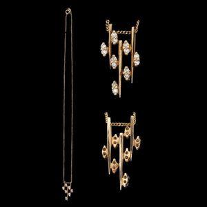 Expertissim - chaîne et pendentif en or et diamants - Ciondolo
