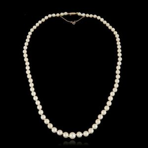 Expertissim - collier de perles de culture blanches en chute - Collana