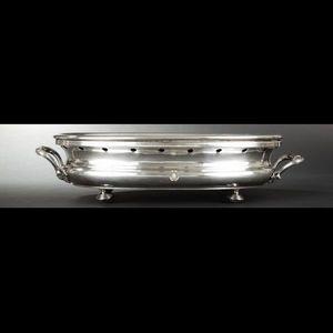Expertissim - chauffe-plat ovale et chauffe-plat rond en métal a - Scaldapiatto