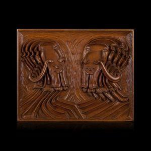 Expertissim - pierre dedieu. les deux sages - Pannello Decorativo