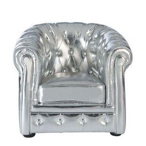 Maisons du monde - fauteuil enfant argent chesterfield - Poltroncina Bambino