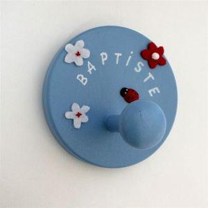 LITTLE BOHEME - porte manteau enfant bleu le bonheur est dans le p - Appendiabiti Bambino