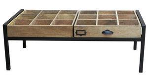 Sweet Mango - table basse à 2 tiroirs - Tavolino Soggiorno Con Cassetti
