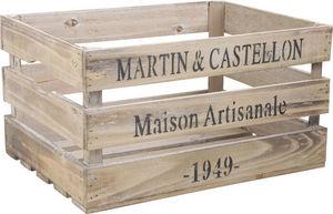 Aubry-Gaspard - caisse en bois maison artisanale 40x30,5x22,5cm - Scatola Sistematutto