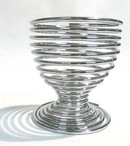 Tellier - coquetier spirale en métal 5x5x5cm - Portauovo