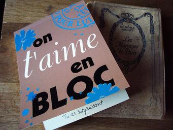 DANS TETE - on taime en bloc - Bloc Notes