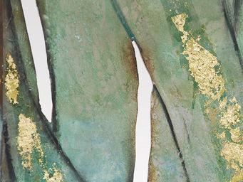 Genevieve Bonieux - feuilles de bronze (d�tail) - Paravento Separ�