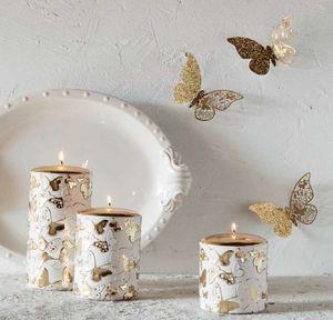 Pernici - farfalle - Candela Natalizia
