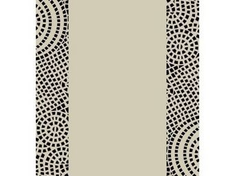 SIRETEX - SENSEI - drap de plage velours bicolore 440 gr/m² beige/noi - Telo Mare
