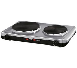 Princess - plaque de cuisson double steel hot plate 302202 - - Piano Di Cottura A Gas