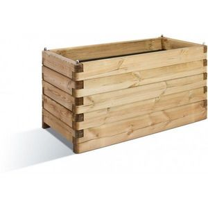 JARDIPOLYS - bac à fleur rectangulaire en bois 252 litres jardi - Fioriera